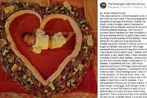 """""""Rezultat pięknych 9 miesięcy ciąży z cukrzycą"""". Tym zdjęciem mama dodała otuchy innym chorym"""