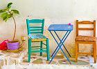 Kolorowe krzesła na balkon i taras