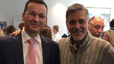 Mateusz Morawiecki i George Clooney