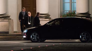Spotkanie Duda - Kaczyński. Prezes PiS opuszcza Belweder, 8 września 2017