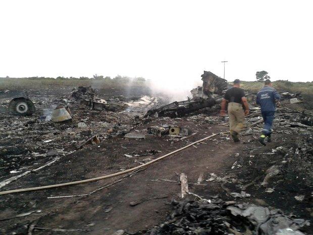 Zdjęcie z miejsca katastrofy samolotu