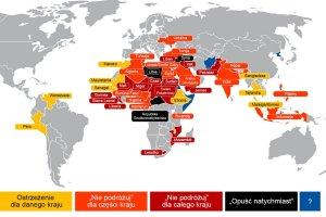 MSZ od dawna ostrzega�o przed zagro�eniem w Tunezji. Gdzie jeszcze nie je�dzi� lub uwa�a�? [MAPA]