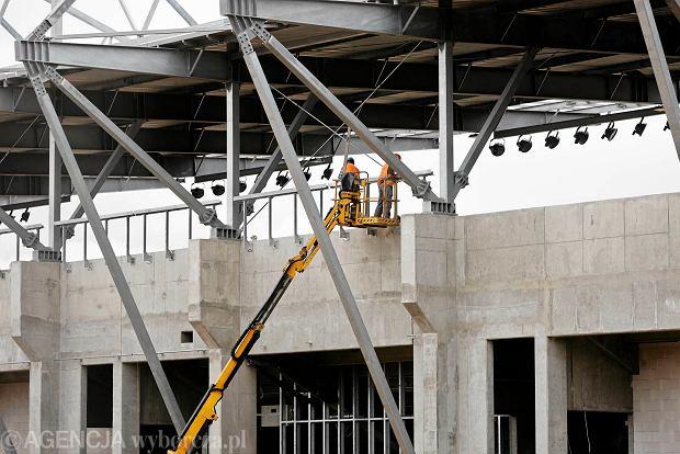 Zdjęcie numer 22 w galerii - Budowa stadionu Widzewa. Widać już napis