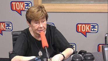 Zofia Romaszewska w studiu TOK FM.