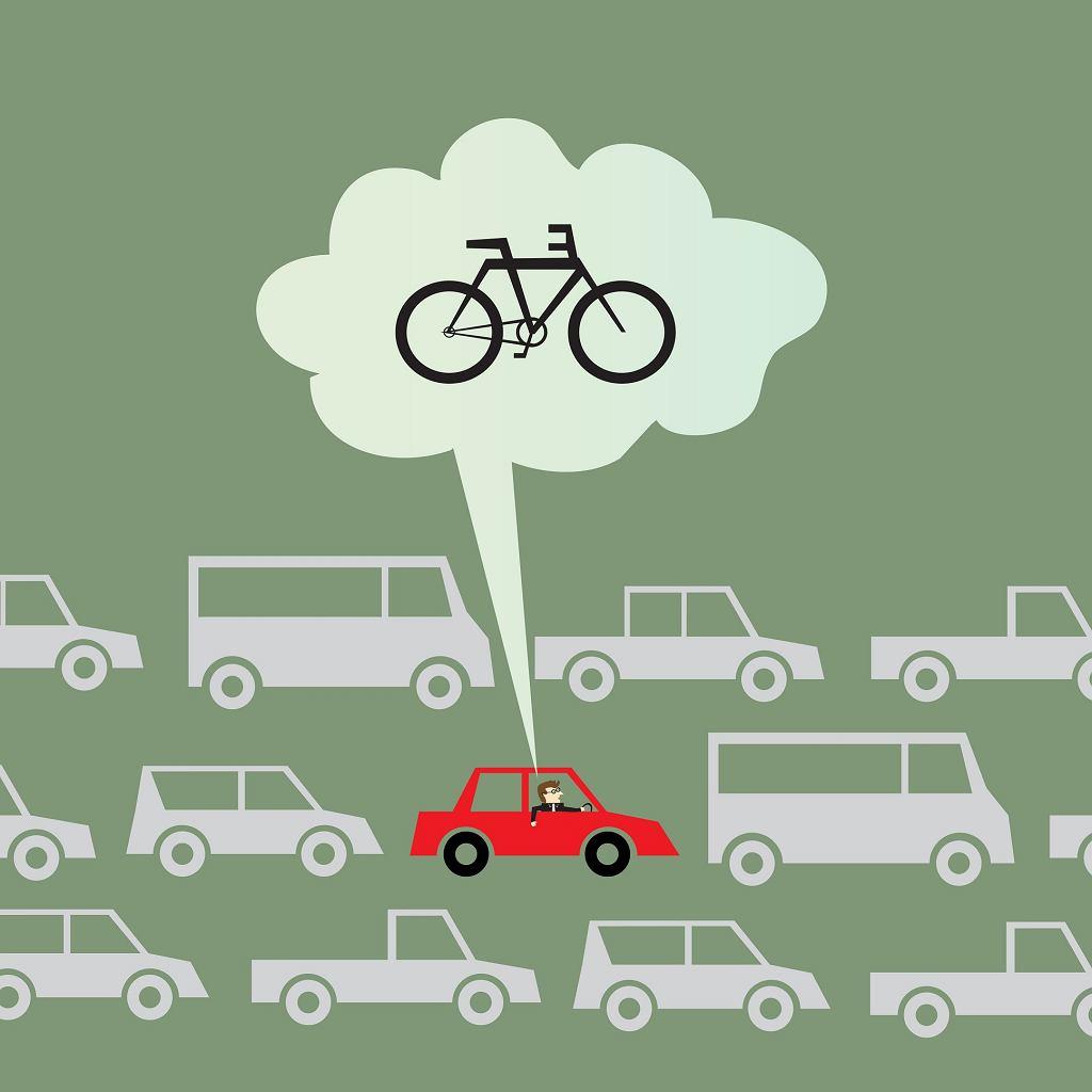 rower w korkach nie stoi
