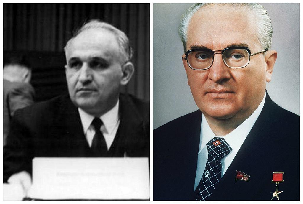 Todor Żiwkow, przywódca Bułgarii, i Jurij Andropow, szef KGB (fot. Bundesarchiv/Soviet Life/Wikimedia Commons/public domain)