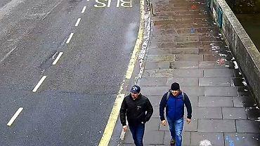 Aleksandr Pietrow i Rusłan Boszirow - podejrzani o otrucie Siergieja Skripala - na nagraniu CCTV udostępnionym przez brytyjska policję