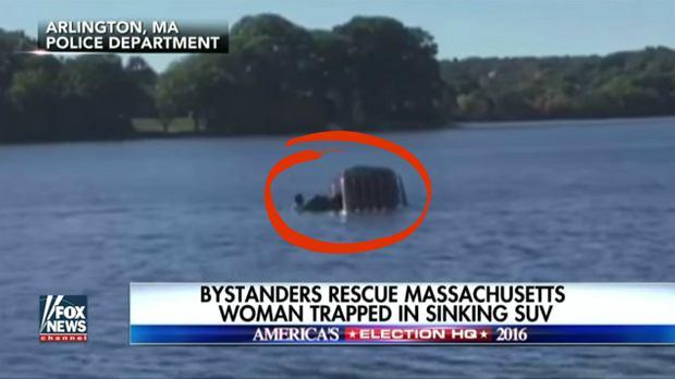 """68-letnia Amerykanka pomyliła hamulec z gazem, auto wpadło do wody. """"Wiedziała, że umiera"""""""