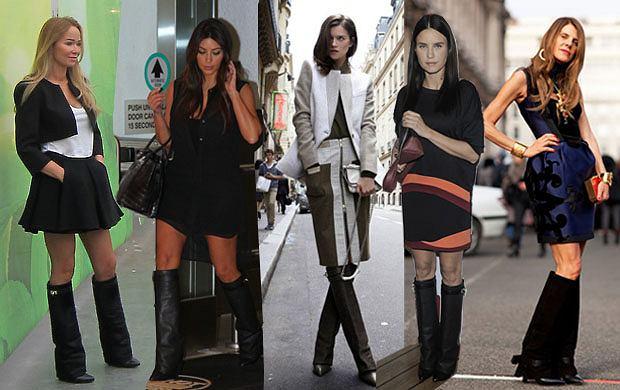Gwiazdy zakochane w skórzanych kozakach od Givenchy - jak je noszą?