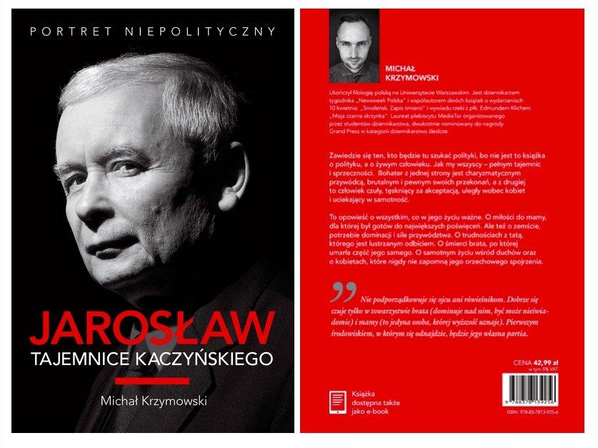 Okładka książki o Jarosławie Kaczyńskim