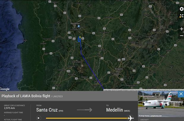 Katastrofa samolotu w Kolumbii. Na pokładzie byli brazylijscy piłkarze. Trzech przeżyło