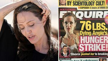 Angelina Jolie/ okładka 'National Enquirer'