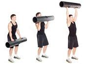 Ćwiczenia: moc w ramionach, ćwiczenia, Unoszenie przedramion z viprem z wznosem ramion w górę