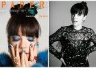 Niebieskie pasemka, turkusowy manicure, efektowne pier�cienie i okulary ze z�ot� koron�, czyli Lily Allen w sesji dla PAPERMAG