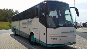Kierowca niemieckiego autobusu prowadził po alkoholu