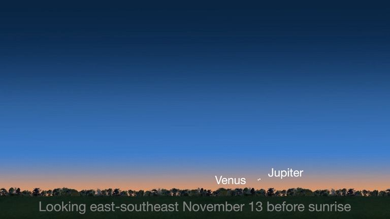 Koniunkcja Wenus i Jowisza