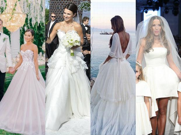 o tych sukniach ślubnych polskich celebrytek by�o g�ośno