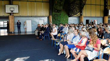 Rozpoczęcie roku szkolnego w Zespole Szkół Ogólnokształcących i Zawodowych Branżowej Szkołu I Stopnia im. JP II. Klasa patronacka firmy Adinet