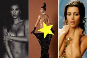 Kim Kardashian znowu znalaz�a si� niedawno w centrum zainteresowania, gdy pochwali�a si� w sieci kolejnym nagim zdj�ciem. Kontrowersyjna celebrytka zosta�a skrytykowana za publikowanie takich fotografii, jednak ostro odpowiedzia�a hejterom, kt�rzy chc� ogranicza� jej wolno��. Kardashian wyj�tkowo ceni sobie takie epatowanie sowim cia�em i seksualno�ci�, bo ma ju� na koncie wiele bardzo odwa�nych sesji zdj�ciowych. My wybrali�my dla Was kilkana�cie najodwa�niejszych nagich fotografii Kim. To jeszcze sztuka czy przekroczenie pewnych granic?