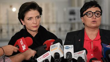 Joanna Mucha (po lewej) i Monika Wielichowska reprezentowały w ostatnich dniach kobiety z organizacji pozarządowych - ich przedstawicielek nie wpuszczano