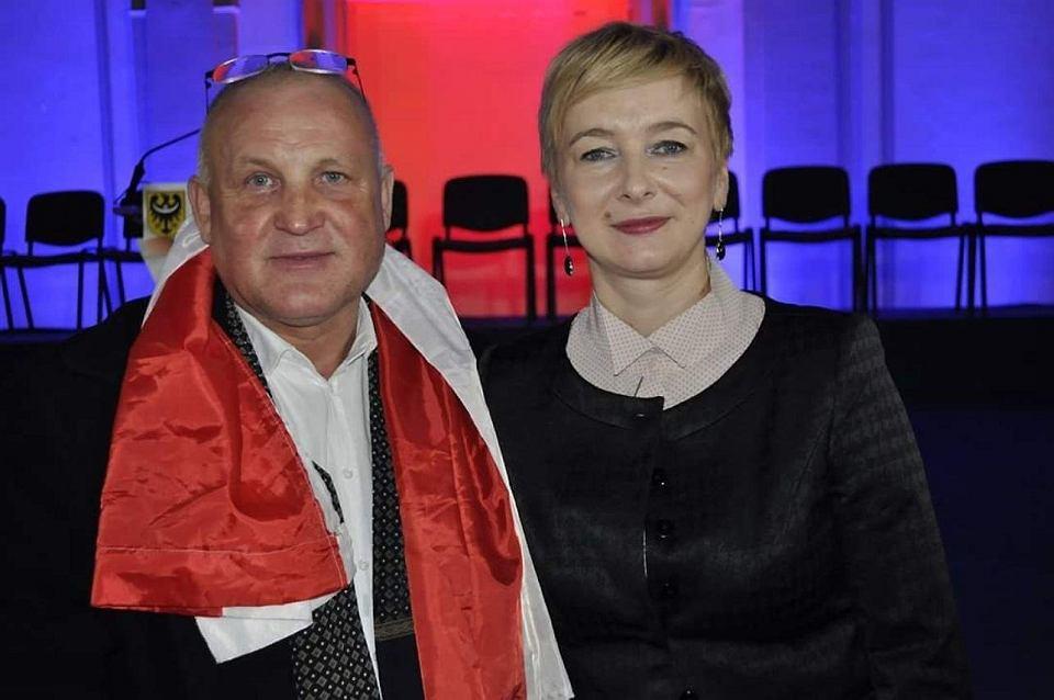 Piotr Rybak z Mirosławą Stachowiak-Różecką
