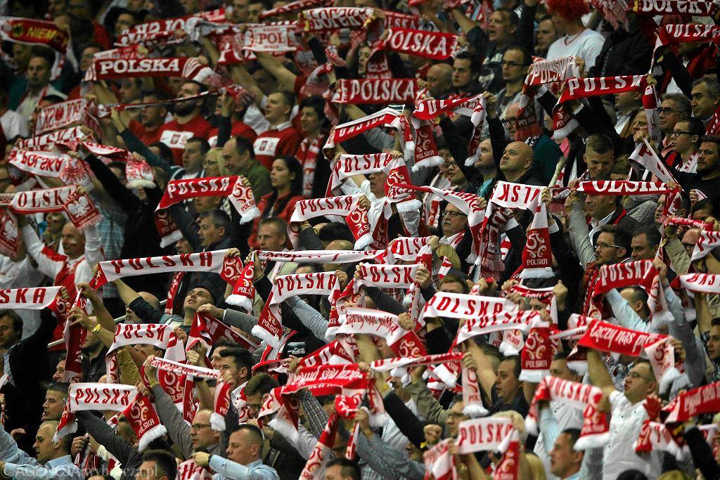 Trybuny Stadionu Narodowego. Kibice na meczu Polska - Niemcy