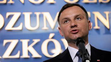 Kandydat na prezydenta z ramienia PiS Andrzej Duda