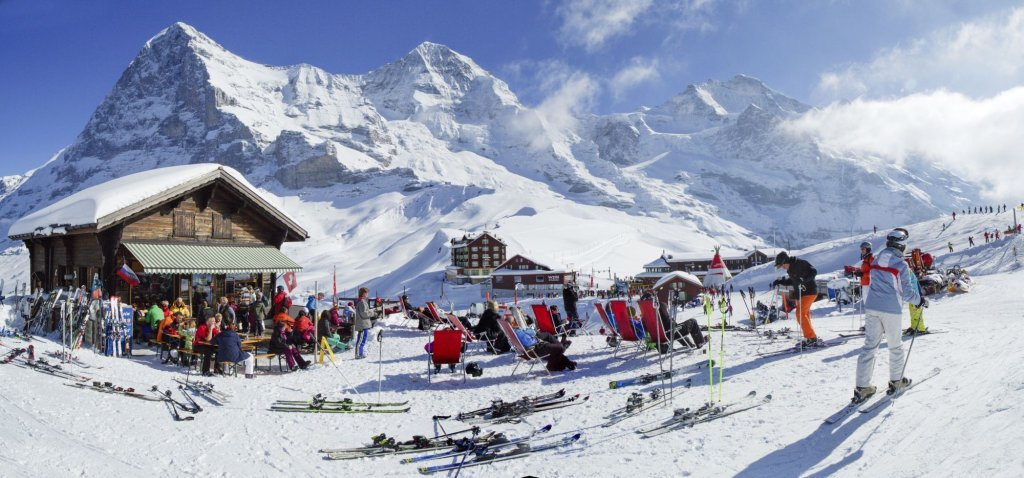Widok na Eiger z przełęczy Kleine Scheidegg (fot. Region By-line:swiss-image.ch/ Christof Sonderegger)