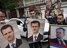 Zdjęcia prezydenta Syrii Baszara al-Asada i Slobodana Milosevica - manifestacja w Belgradzie