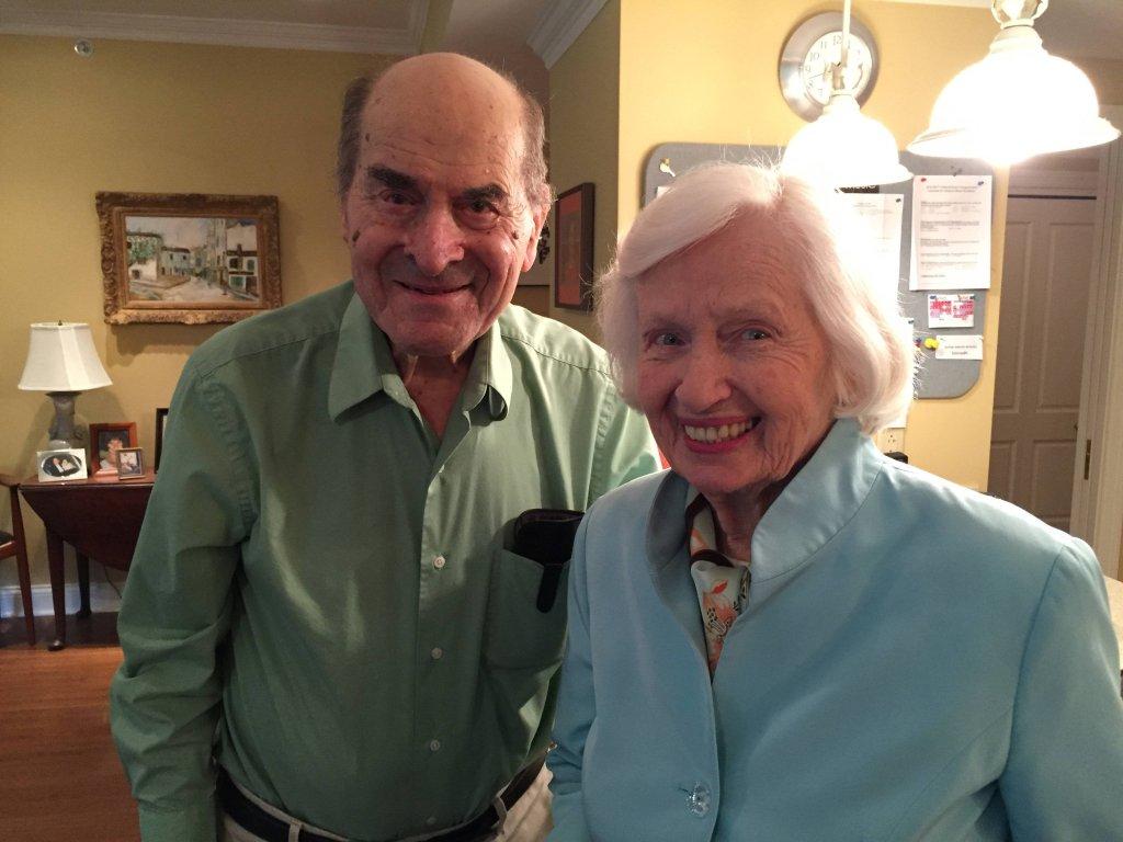 Henry Heimlich razem z Patty Ris