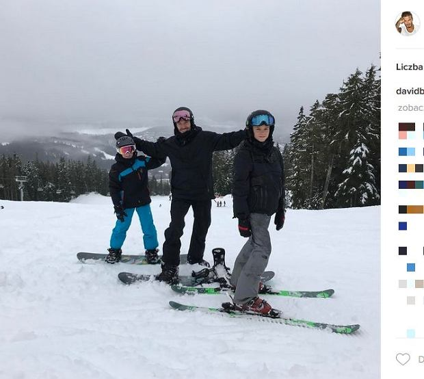 Zdjęcie numer 6 w galerii - Rodzina Beckhamów w górach. Harper uczy się jeździć na nartach! Nie obyło się bez WYPADKU. Zobaczcie nagranie