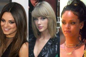 Mila Kunis, Taylor Swift, Rihanna