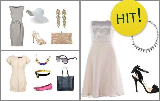 Neutralny kolor i kobiecy kr�j - be�owa sukienka baz� letnich stylizacji [5 PROPOZYCJI]