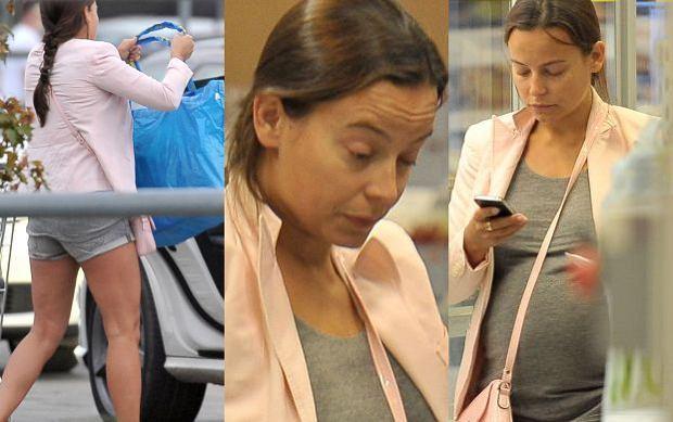Anna Mucha bez makija�u, szpilek i stanika robi zakupy w Ikei