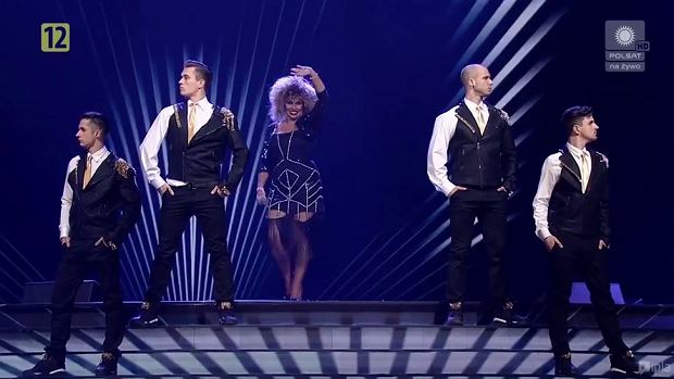 Katarzyna Skrzynecka zdecydowanie wyróżniała się strojem podczas gali Polsatu.