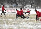 Trening piłkarzy Widzewa Łódź
