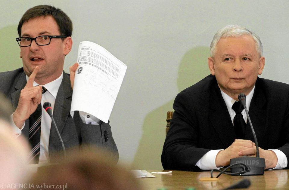Były wójta Pcimia Daniel Obajtek został prezesem Energi. Na zdjęciu z Jarosławem Kaczyńskim