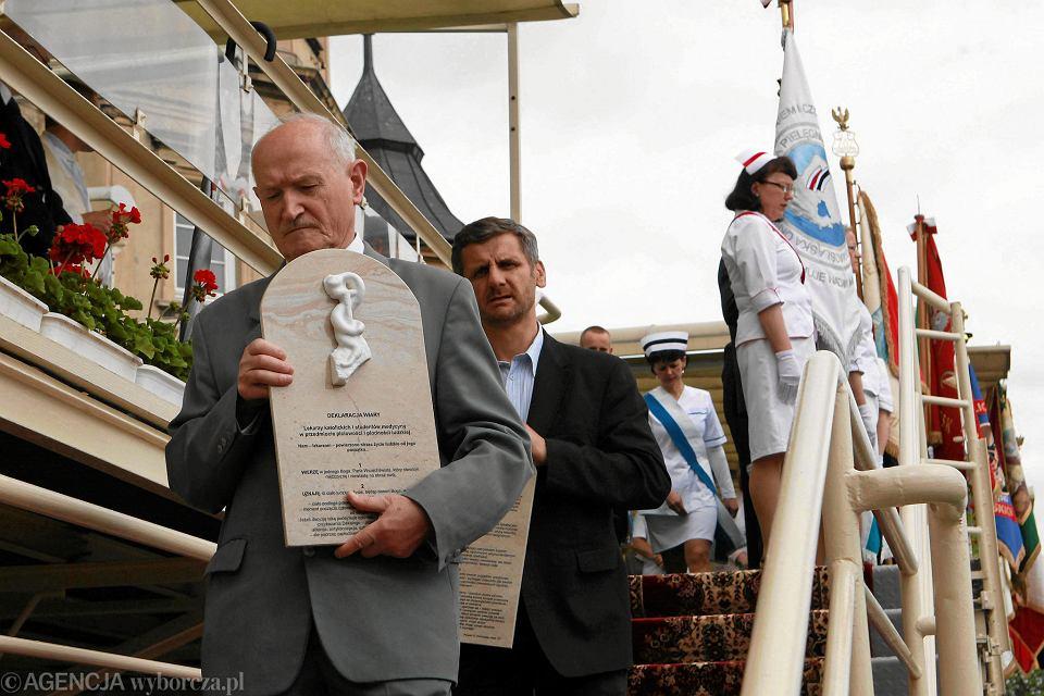 25.05.2014, Częstochowa, 90. Pielgrzymka Służby Zdrowia na Jasną Górę podczas której złożono na kamiennych tablicach Deklarację Wiary.