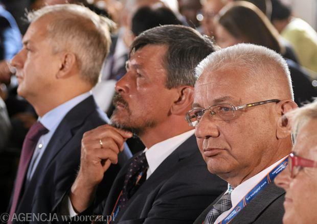 Ludwik Dorn, Grzegorz Napieralski i Michał Mazowiecki na posiedzeniu Rady Krajowej Platformy Obywatelskiej