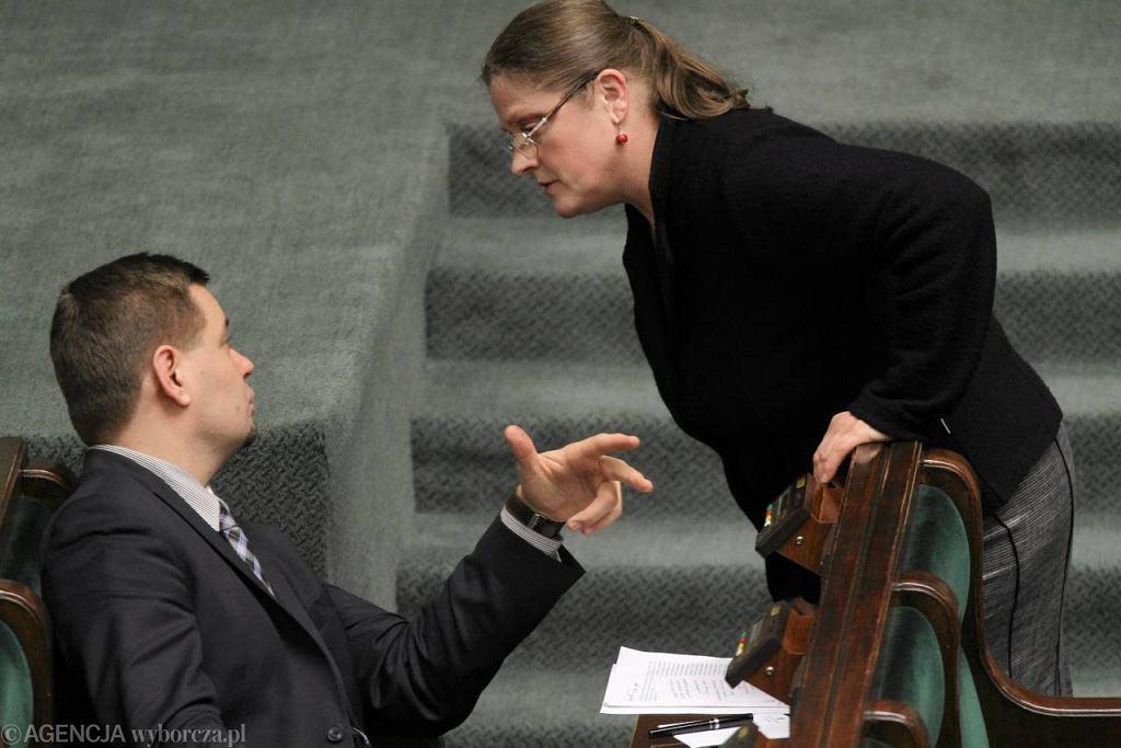 Krystyna Pawłowicz podczas debaty o związkach partnerskich
