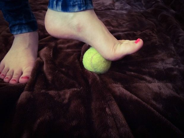 rolowanie stopy