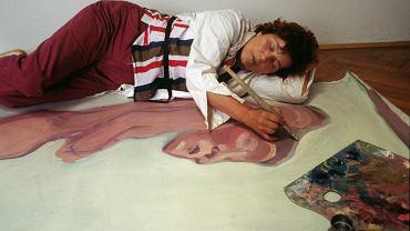 Maria Lassnig w swojej pracowni w Wiedniu, 1983