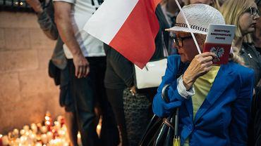 Protest pod sądem w Gdańsku.