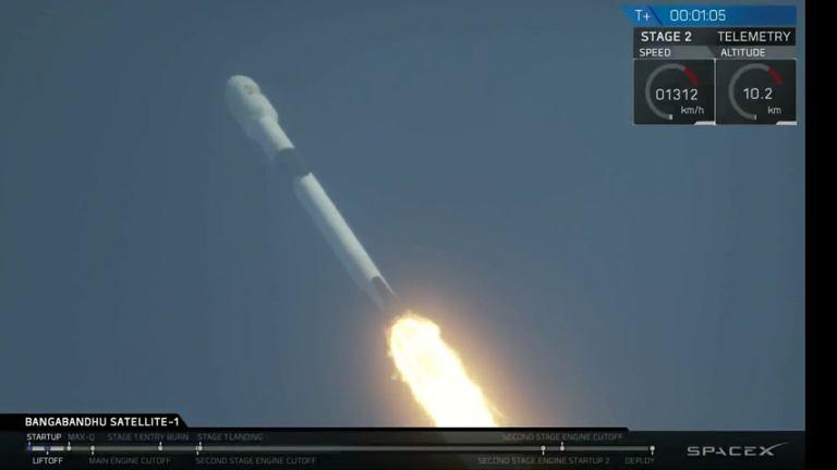Udany start rakiety Falcon 9 'Block 5'