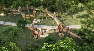 W Stalowej Woli powstaje niesamowity park linowy [WIZUALIZACJA]