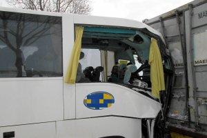 """Wypadek autokaru z Olsztyna na krajowej """"7"""". 21 rannych"""