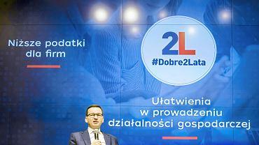 15.11.2017, Giełda Papierów Wartościowych, Mateusz Morawiecki podsumowuje swoje osiągnięcia po dwóch latach piastowania funkcji ministra finansów.