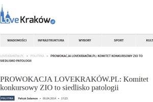 """Krakowski portal robi prowokacj� w sprawie igrzysk. """"Oferowali nam prac�. Za��dali�my 15 tys. z�"""""""