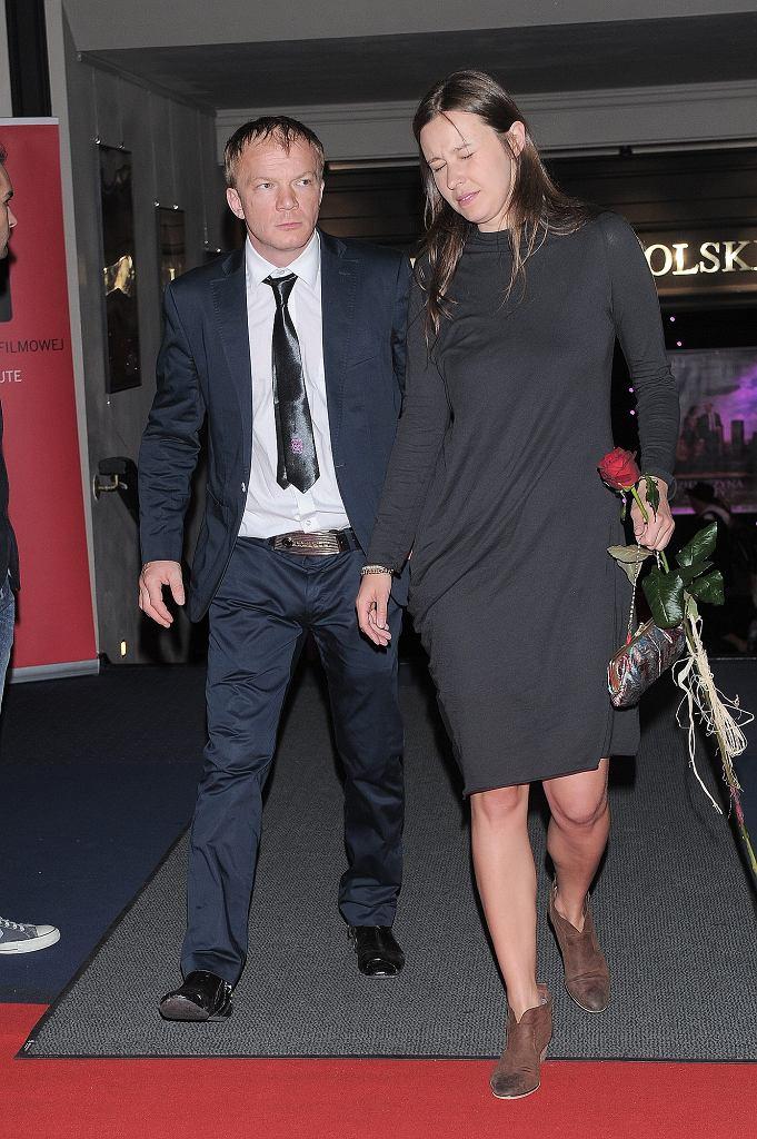 Eryk Lubos z żoną