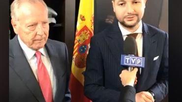 Patryk Jaki i były burmistrz Madrytu podczas konferencji prasowej